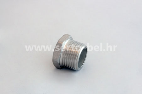 Stainless steel (inox) threaded couplings - Hexagonal plug