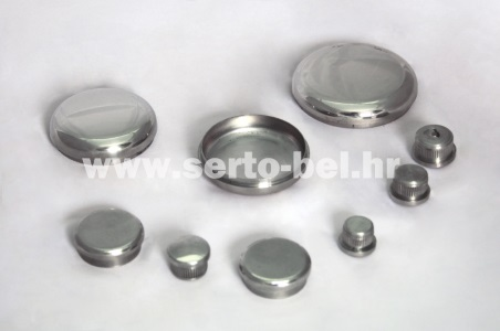 Stainless steel (inox) fence components - End caps