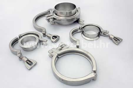 Stainless steel (inox) Tri Clamp couplings