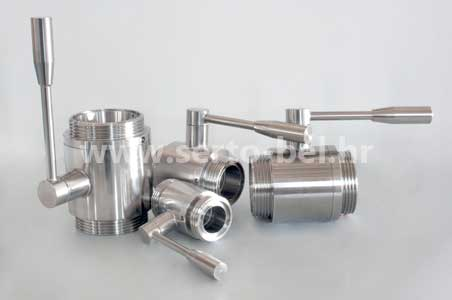 Stainless steel (inox) two way ball valves