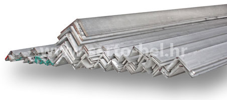 Stainless steel (inox) angle profiles