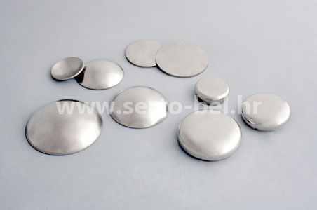 Stainless steel (inox) fence components - End calottes and plates