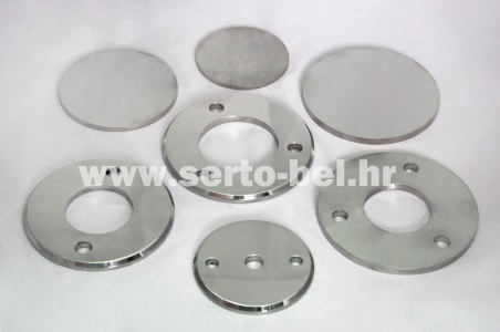 Stainless steel (inox) fence components - Base plates