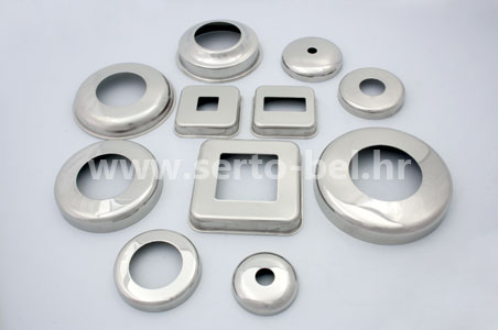 Stainless steel (inox) fence components - Cover plates