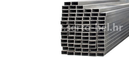 Stainless steel (inox) welded rectangular tubes