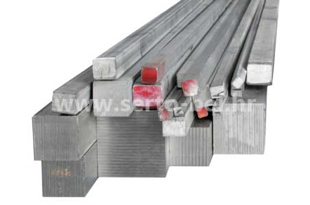 Stainless steel (inox) square bars