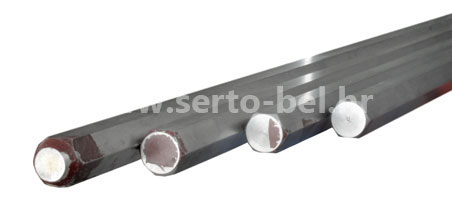 Stainless steel (inox) hexagonal bars
