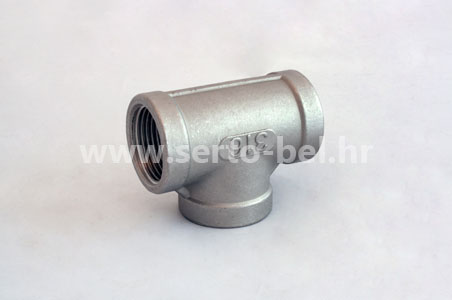 Stainless steel (inox) threaded couplings - Female Tee