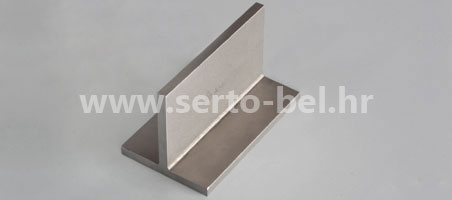 Stainless steel (inox) T-profiles