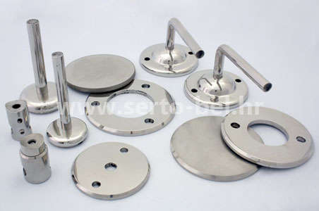 Stainless steel (inox) fence components