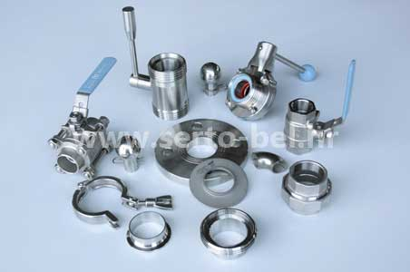Stainless steel (inox) fittings for food and processing industries