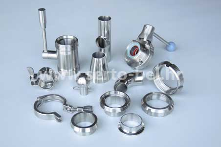 Stainless steel (inox) fittings for food industry