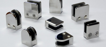 Stainless steel (inox) glass clamps