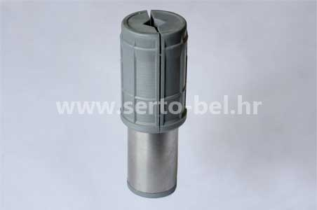 Stainless steel (inox) and PVC legs